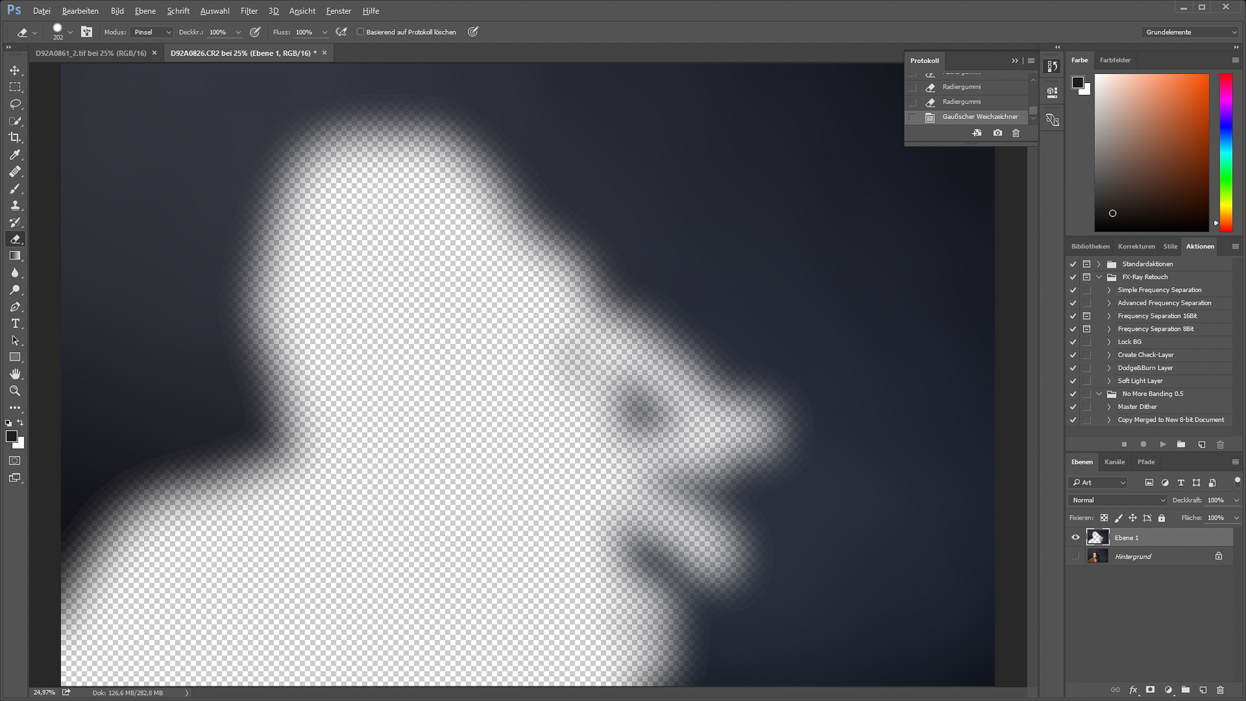 Gaußscher Weichzeichner mit 110 Pixel